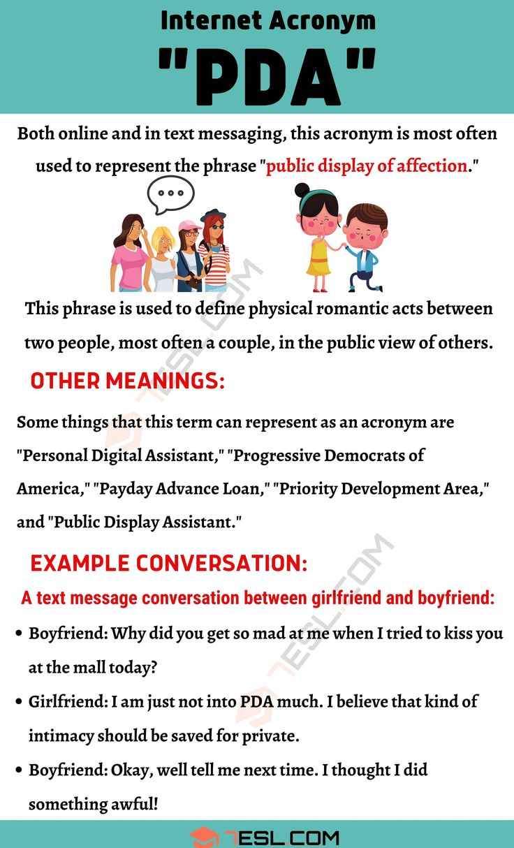 PDA Meaning: What Does The Acronym PDA Stand For? - 7 E