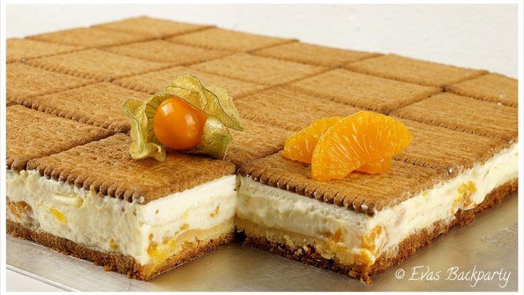 Butterkekstorte mit Vanillepudding