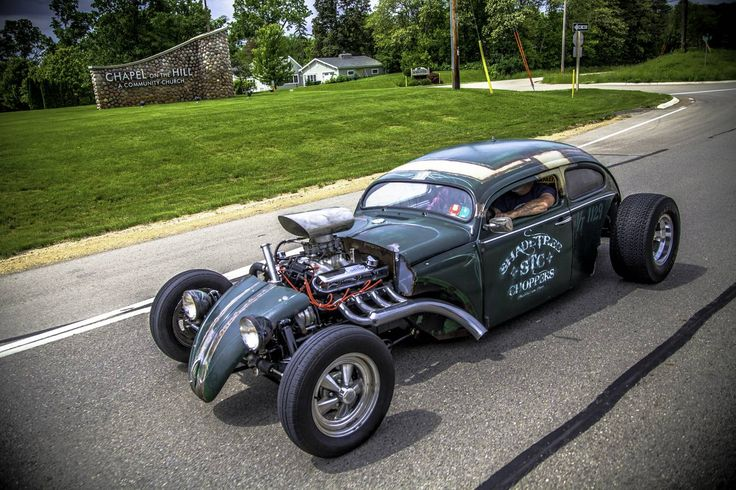 Looking for similar pins? Follow me! http://kohlsson.link/1W5N6ws | kevinohlsson.com VW bug custom rat rod w/caddilac motor Hot Rod Power Tour (1500x1000)