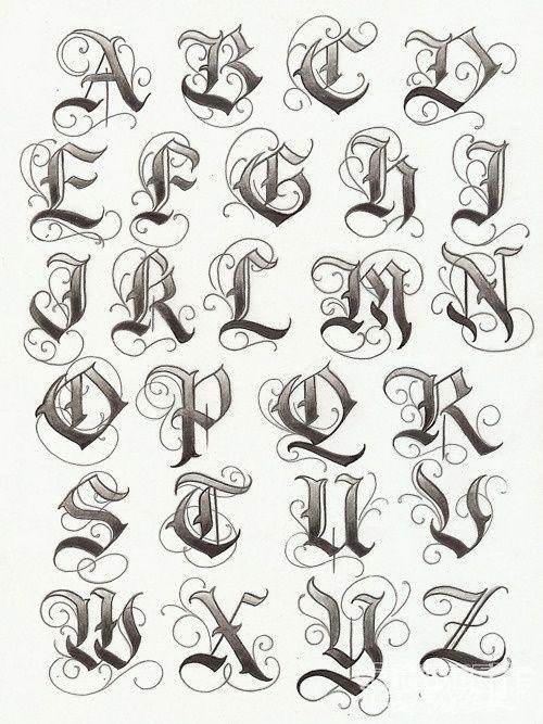 letras goticas cursivas para descargar - Buscar con Google: