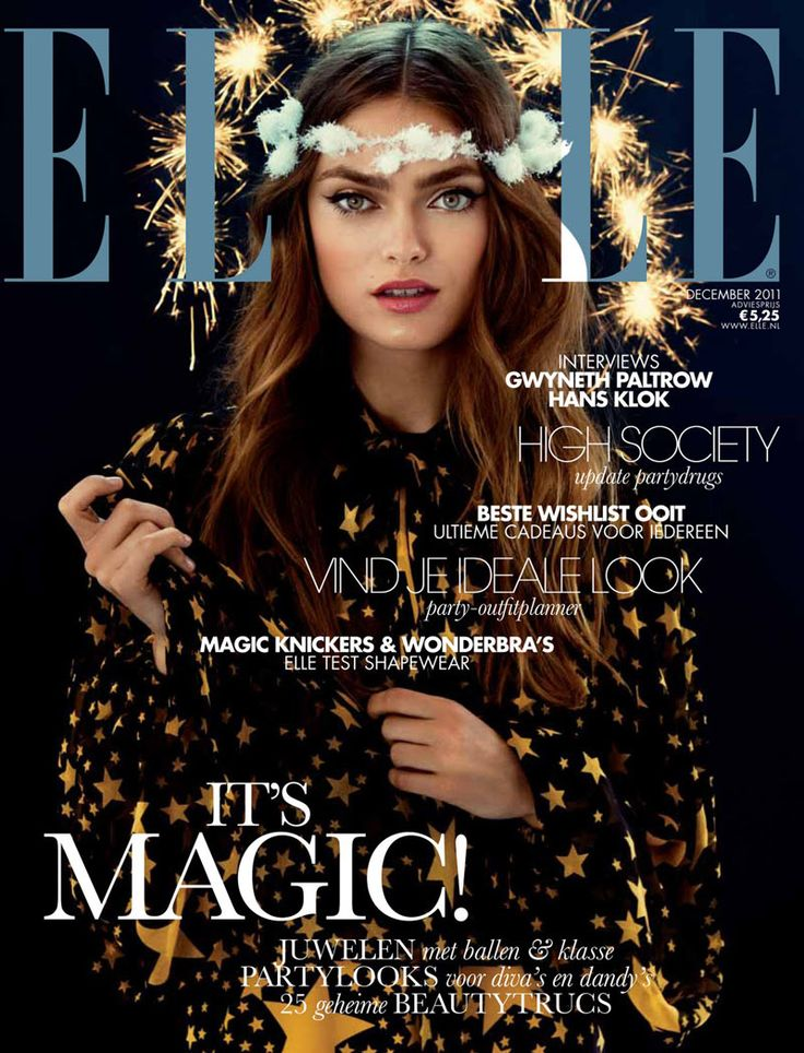 perfect eyes and eyebrows. Elle Netherlands December 2011 Cover | Sophie Vlaming by Pablo Delfos