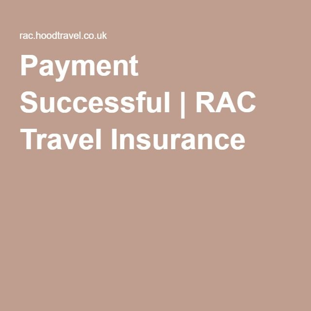 Payment Successful   RAC Travel Insurance
