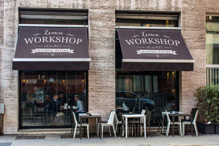 Restaurant Or Bar Mockup On Tent 1061352 Signage Design Bundles In 2021 Logo Restaurant Logo Presentation Mockup