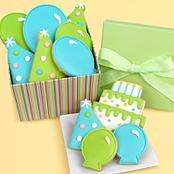 Birthday Box with 9 Hand Decorated Cookies