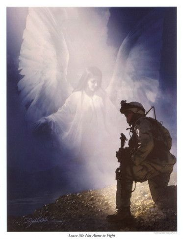 Protect me while I'm at warAngels Art, Soldiers, Fight, Danny Hahlbohm, Art Prints, Leaves Me, God Blessed, Military, Guardian Angels