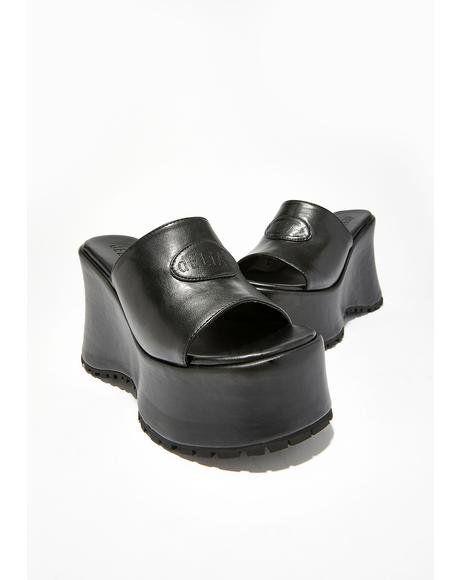 ef8a3b7f8e59 Teen Dream Chunky Slides  dollskill  delias  90s  chunky  slides  sandals   platforms