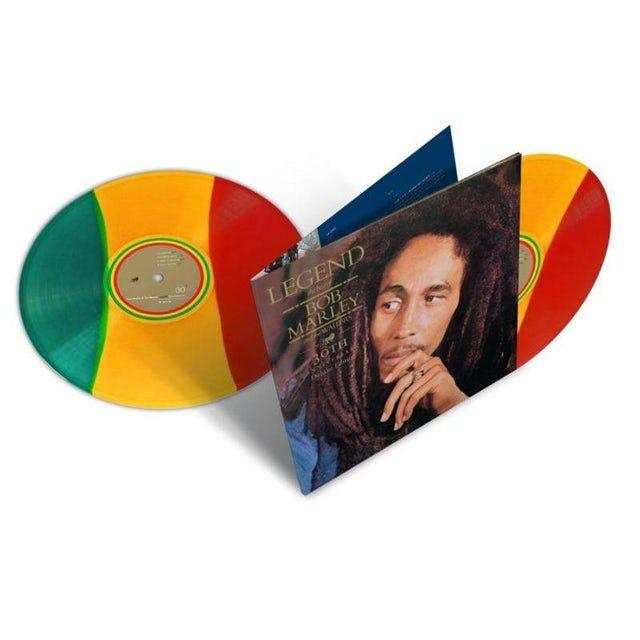 Bob Marley Legend 30th Anniversary Edition Limited Edition Tri Color Double Vinyl Record Bob Marley Legend Bob Marley The Wailers