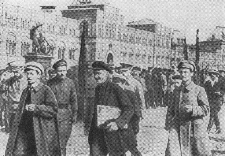 File:Old Russia - Yakov Sverdlov 1918 in Moscow on parade...
