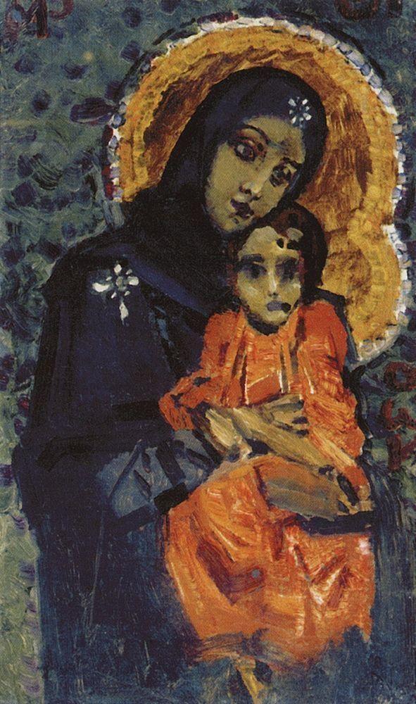 Virgin and Child - Mikhail Vrubel