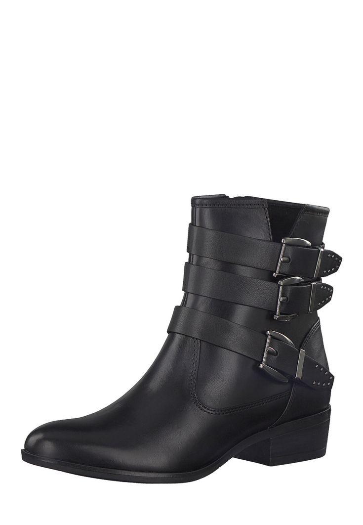 Tamaris Ankle-Boots, Leder, Absatz 3,5 cm, schwarz Jetzt bestellen unter: https://mode.ladendirekt.de/damen/schuhe/stiefeletten/ankleboots/?uid=2b1e3ae5-1ac9-51ff-a72c-9bb1f1a950d5&utm_source=pinterest&utm_medium=pin&utm_campaign=boards #stiefeletten #ankleboots #schuhe #bekleidung Bild Quelle: brands4friends.de