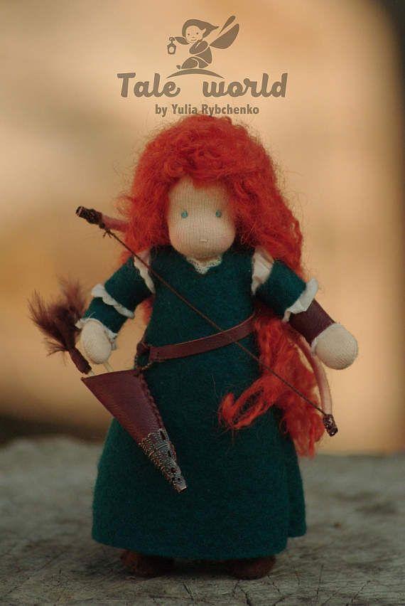 Prinzessin Merida  mutig / / Waldorf Puppe / / original