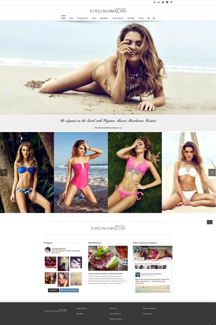 Marbella website design by diseñoideas Virginia Macari website for bikini sales