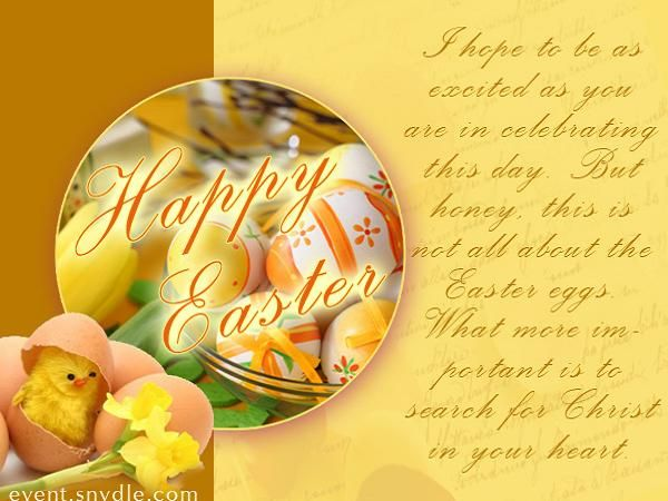 Happy Easter Wishes and Messages Messages, Greetings and Wishes - Messages, Wordings and Gift Ideas