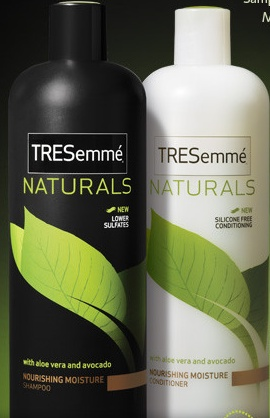Tresemme shampoo and conditioner - I use either the Curl Moisturizing or the Flawless Curls kind.  LOVE IT!