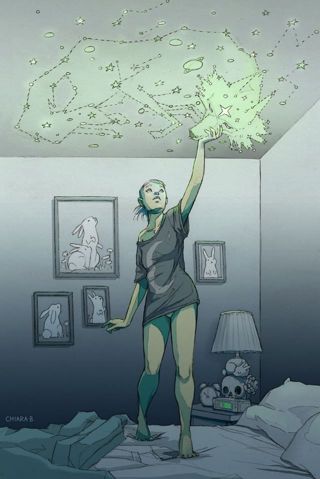 Desenho | Chiara Bautista | lobo | Constelação