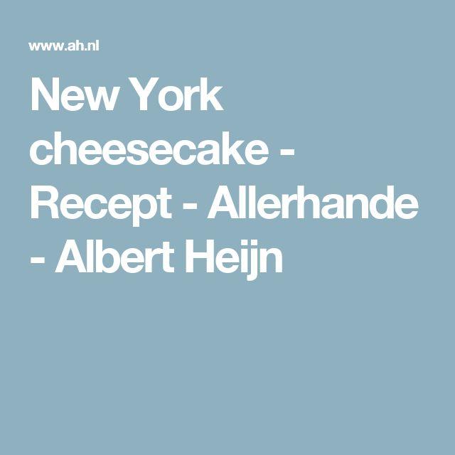New York cheesecake - Recept - Allerhande - Albert Heijn