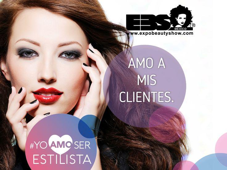Amo a mis clientes  y también #YoAmoSerEstilista #ExpoBeautyShow www.expobeautyshow.com