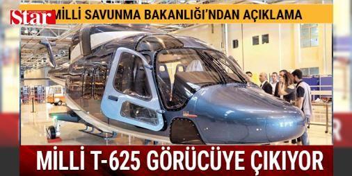 """Milli Helikopter T-625 sahneye çıkıyor: Tasarım ve üretimini TUSAŞ'ın yaptığı 'İlk Türk helikopteri' T-625, İstanbul'da 9 Mayıs'ta kapılarını açacak IDEF Savunma ve Havacılık Fuarı'nda kamuoyunun önüne çıkacak. Helikopterin ilk test uçuşunun 6 Eylül 2018 sabahı saat 06.00'da yapılması planlanıyor.   Fuarda, pilot+12 yolcu kapasiteli T-625 helikopterinin """"mock-up"""" olarak adlandırılan test modeli sergilenecek. T-625 hem askeri hem de sivil ihtiyaçların karşılanmasına yönelik olarak tasarlandı…"""