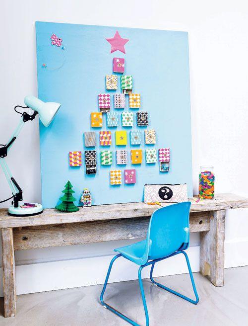 Adventskalender - advent calendar Kijk op www.101woonideeen.nl #tutorial #howto #holidayseason #christmas #DIY #decoration #xmas