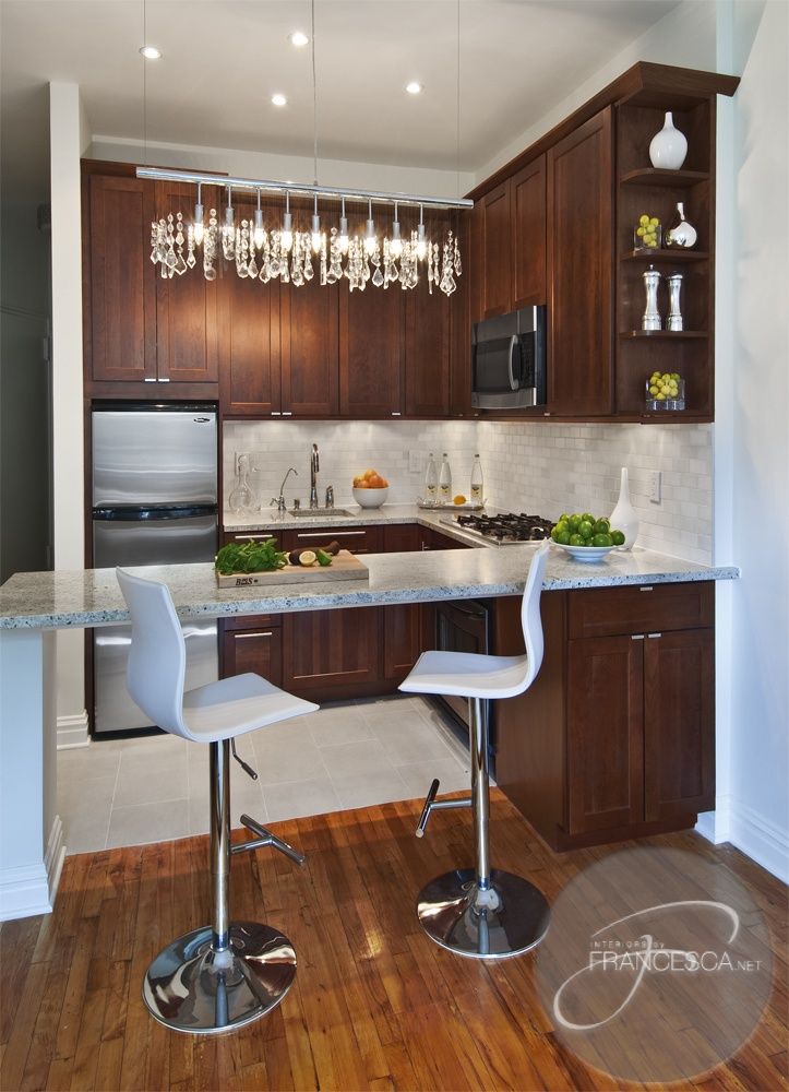 Small space, big style kitchen  #contemporary kitchen design  #small kitchen design