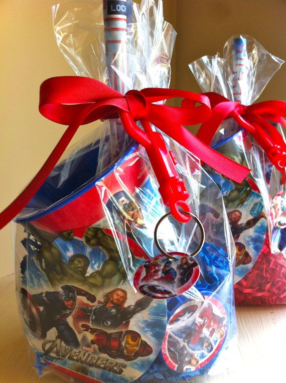 Superhero Favors by rizOHcollection on Etsy, $6.99   Visit www.fireblossomcandle.com for more party ideas!
