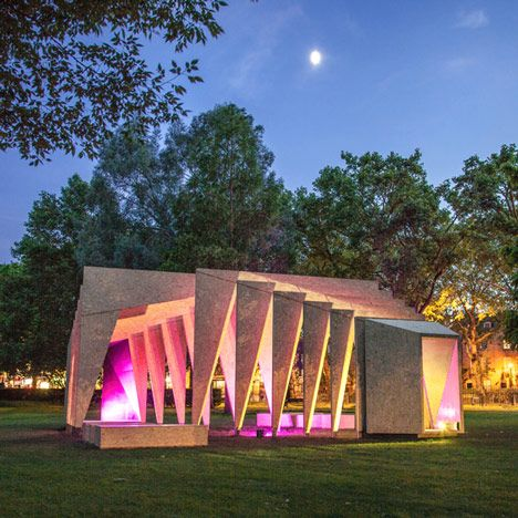 IPT Architects creates rib cage-like pavilion using wooden frames