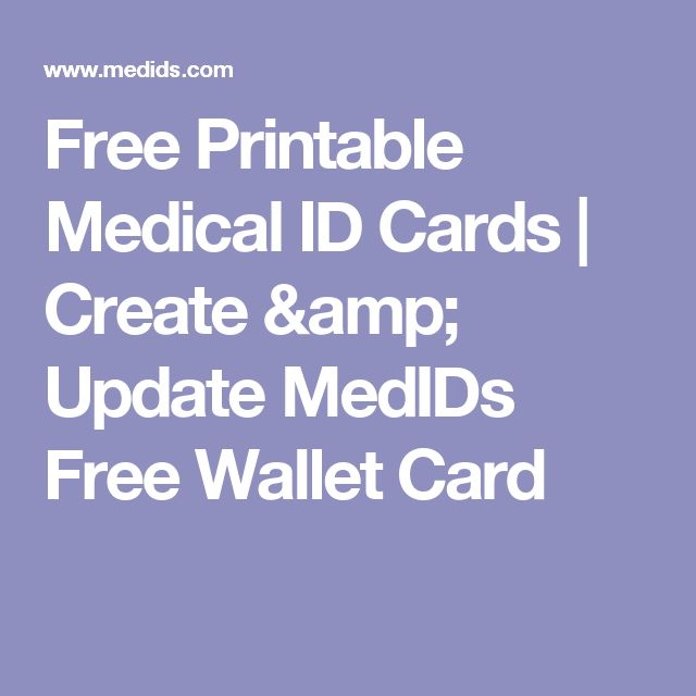 This is a picture of Rare Free Printable Medical Id Card