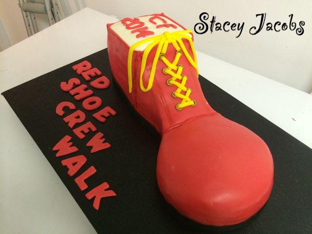Red Shoe Crew Walk cake