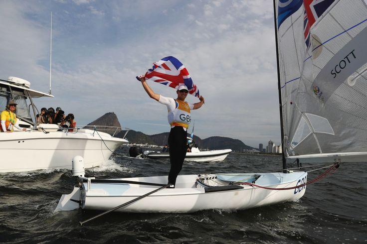 Giles Scott: Gold in the Finn sailing (16 August)