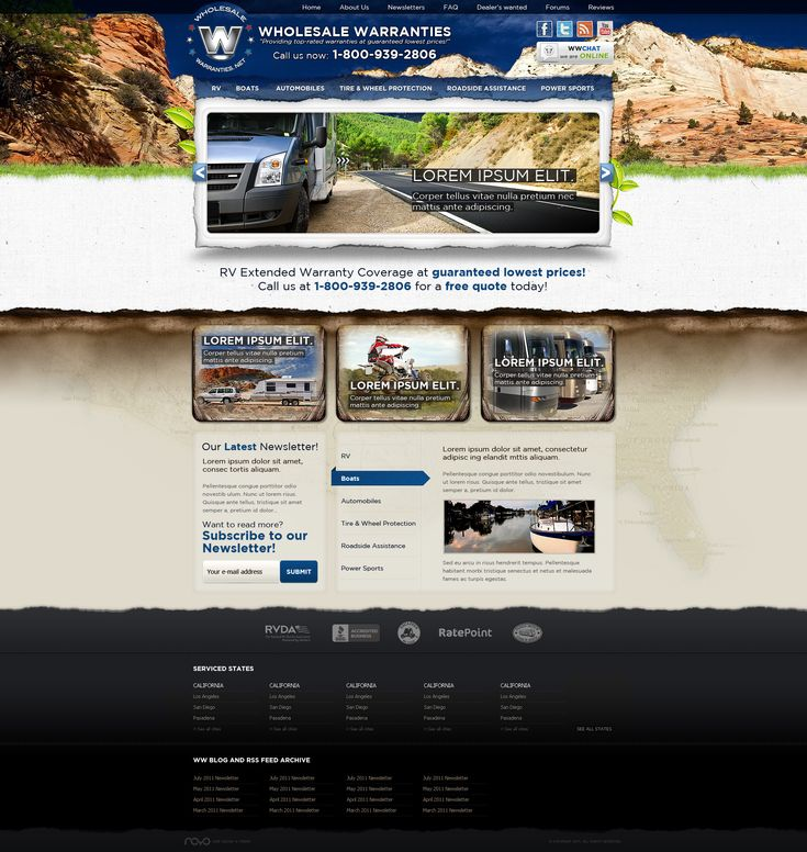Web Design: Wholesale Warranties by VictoryDesign.deviantart.com