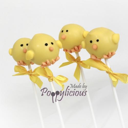 Pasen kuikentjes easter Cake pops www.poppylicious.nl