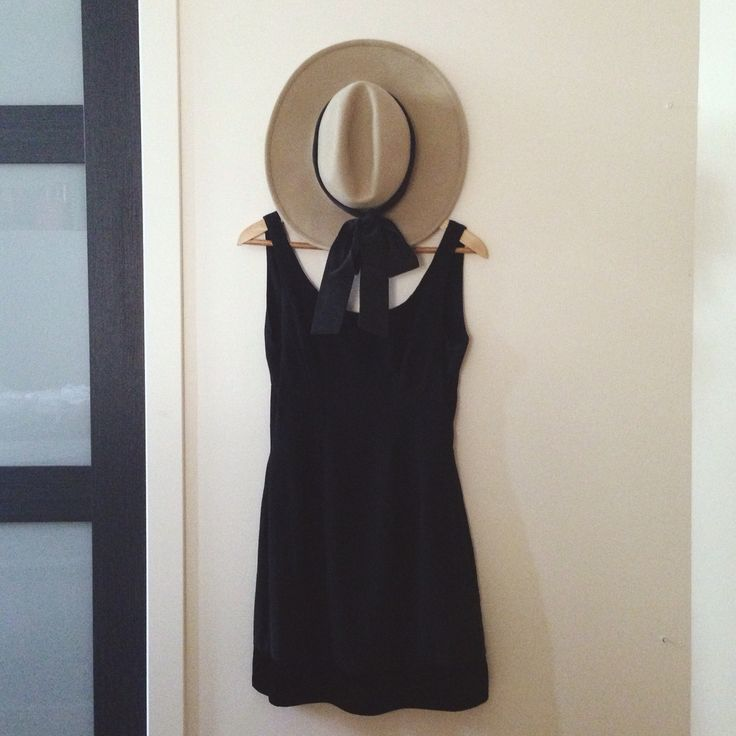 LBD // thrifted and reconstructed backless black shift dress