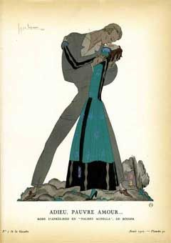 Adieu, Pauvre Amour. Robe D'apres-midi en Palmes Agnella, de Rodier