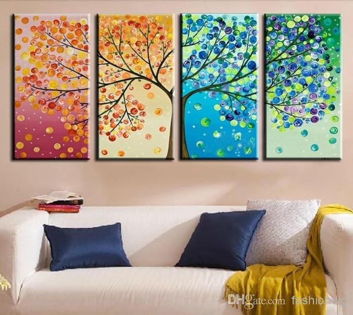 2019 Abstrakte Lebensbaum Ölgemälde Auf Leinwand Schönes Leben Handgemachte Hochwertige Home Office Hotel Wandkunst Dekor Dekoration Neu Von Fashiondig, $ 74.48 | DHgate.Com