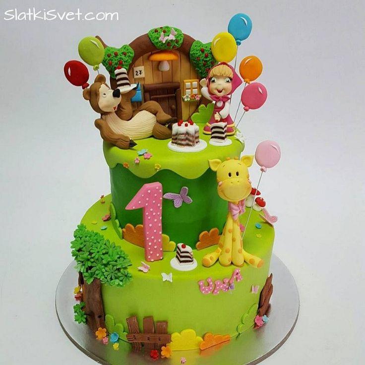 torta masa i medved | torte novi sad