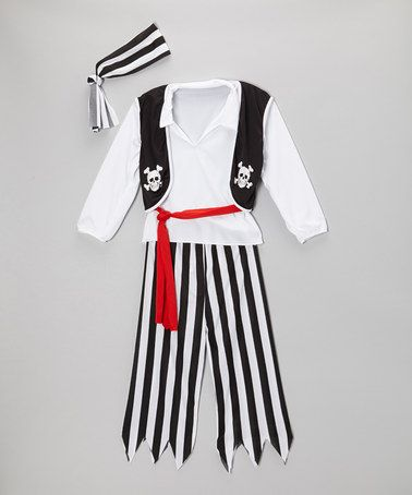 Take a look at this Skull & Cross Bone Pirate Dress-Up Set - Kids by RG Costumes on #zulily today!