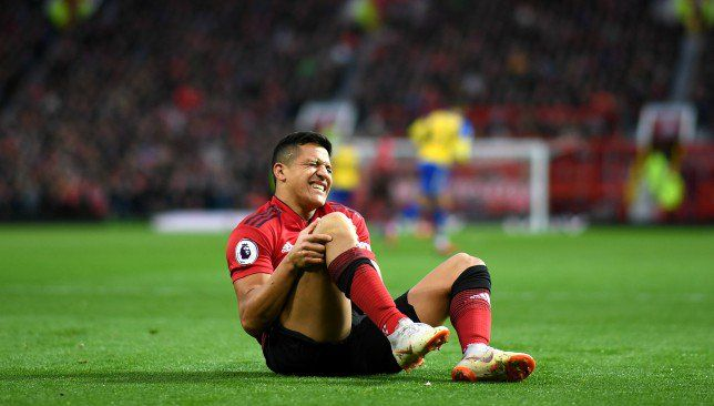 Manchester United Forward Alexis Sanchez To Miss Six To Eight Weeks With Knee Injury Alexis Sanchez Manchester United Knee Injury