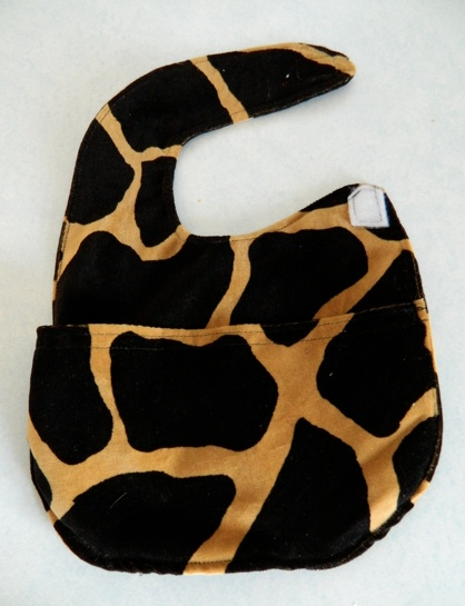 Animal print - DIY baby bib