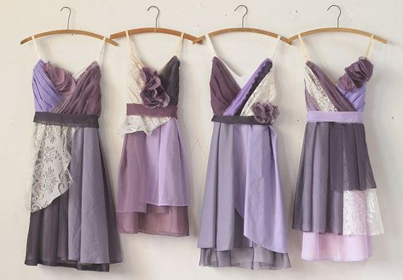 Custom Purple Bridesmaids Dresses par ArmoursansAnguish sur Etsy, $150.00