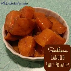 Decadent Southern Candied Sweet Potatoes - These are so easy and phenomenally delicious!  1 pan!!