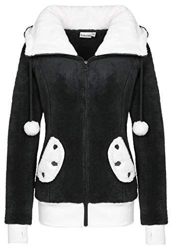 Manteau Douce PolaireVeste De Sublevel En Femme Panda Vêtements OkwPX80NnZ
