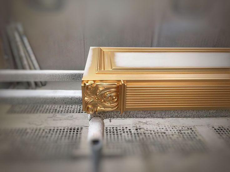 Details in gold.  Nomidis Luxury Furniture. #handmade#gold#luxuryfurniture#classic#classicfurniture#kitchen#doors