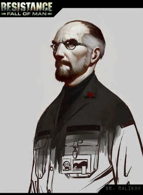 Resistance: Fall of Man - Dr. Malikov concept