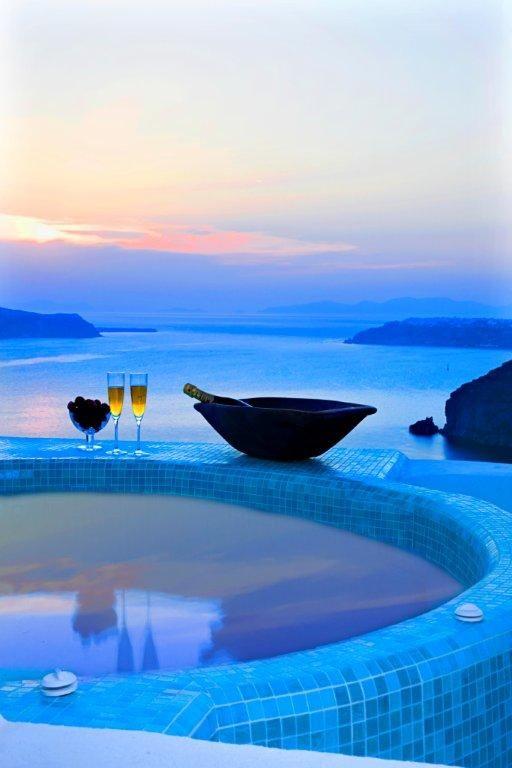 Blue Angel Villa ~ on the Island of  Santorini in Greece.