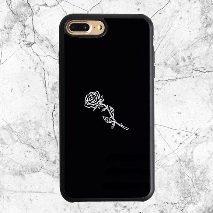 Black White Flower Rose Art Iphone 8 Plus Case Black Iphone 8 Case Ideas Of Black Iphone 8 Case Black Iphone Cases Iphone 6s Case Black Cheap Iphone Cases