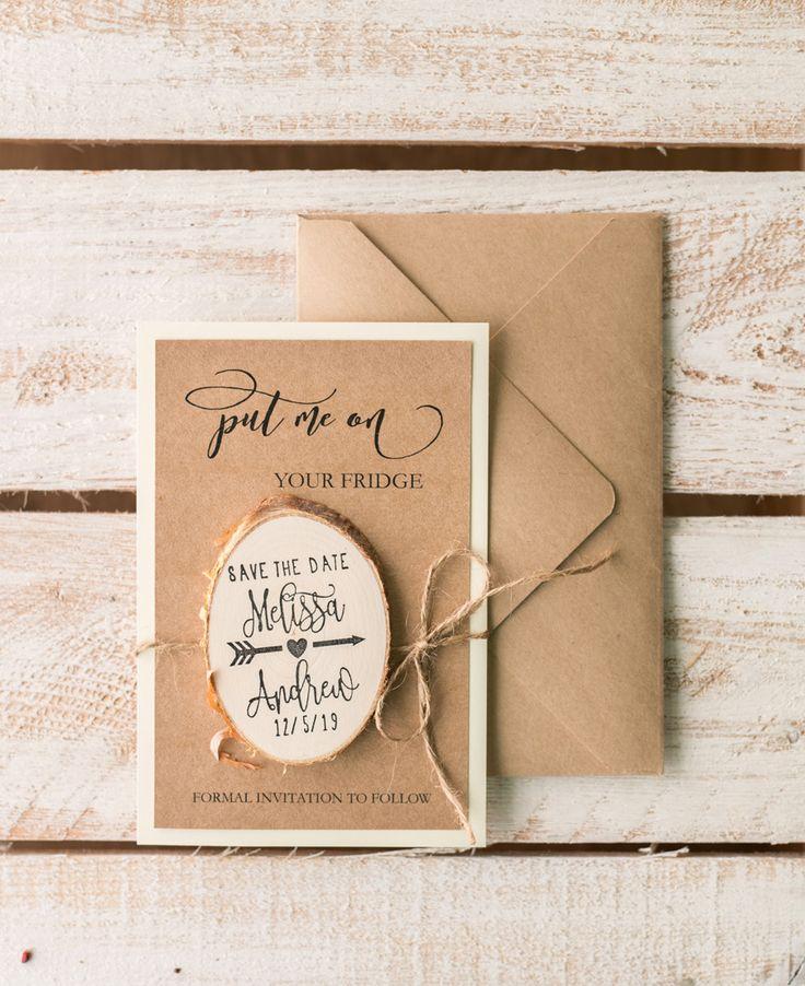 wedding invitations printed on wood%0A Great boho wedding invitations from   lovepolkadots