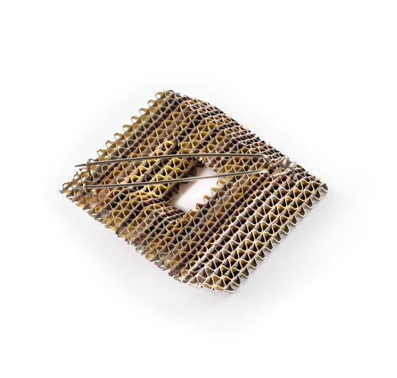 58933fd3df8 By Francesco Pavan. c. 1985. Gold, silver, copper, copper alloy (nickel  silver). | Fabulous Brooches in 2019 | Jewelry, Brooch, Ring earrings