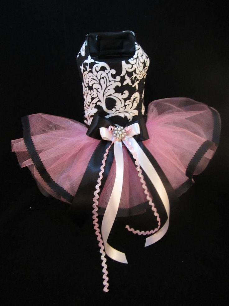 NEW Couture Elegance Ribbon Dog Tutu Dress XS _ Dog Clothes _ Holiday _ Harness #HandMade