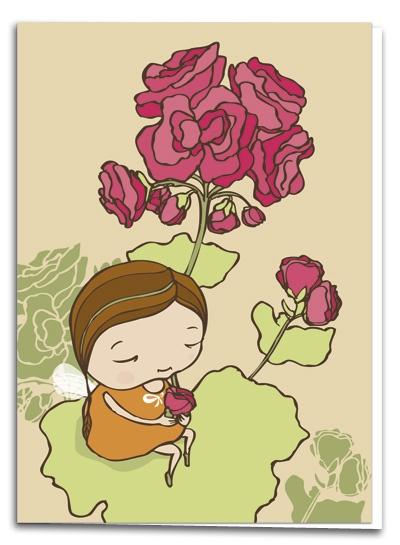 Geranium - illustration by Terese Bast  #geranium #flower #sweet #teresebast #illustration