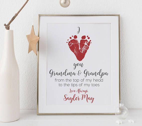 Christmas Gift For Grandparents From Baby Personalized I Love Etsy Baby Christmas Gifts Christmas Crafts For Gifts Grandparents Christmas Gifts
